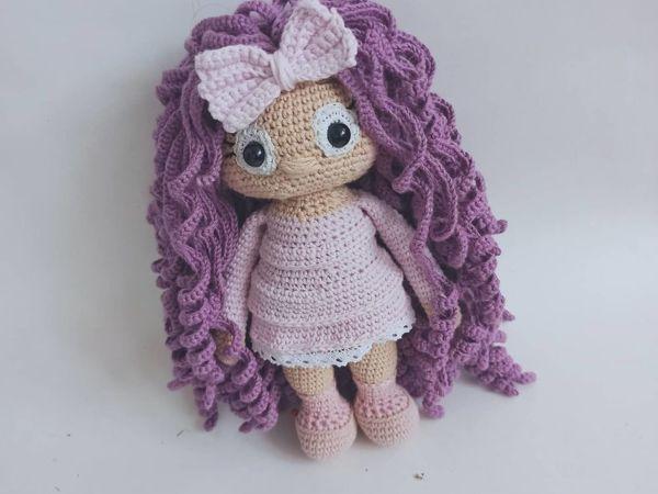 Делаем волосы для куклы | Ярмарка Мастеров - ручная работа, handmade