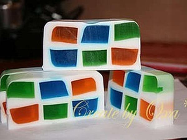 Создаем мыло «Мозаичные окошки» | Ярмарка Мастеров - ручная работа, handmade