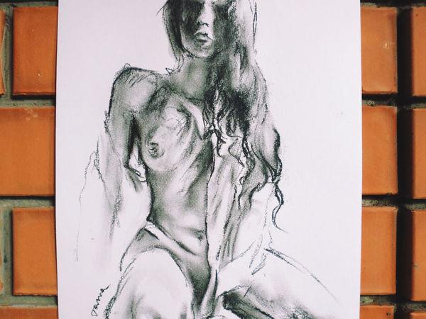 Набросок в рубашке, портрет по фото | Ярмарка Мастеров - ручная работа, handmade