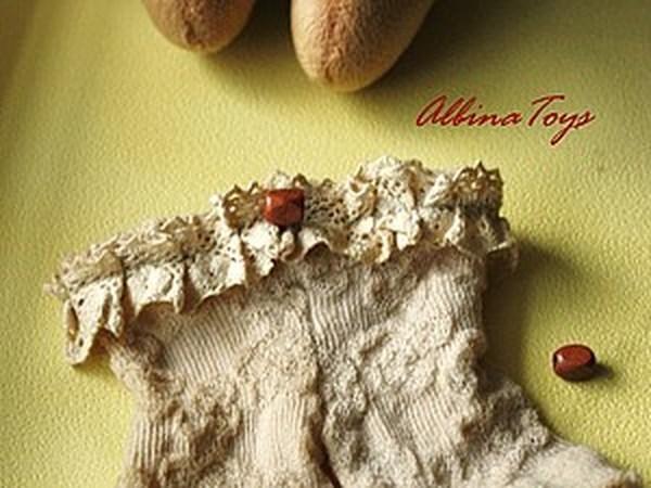Немного интима, или снова о носочках, или МК по созданию винтажных штанишек для куклы. | Ярмарка Мастеров - ручная работа, handmade
