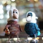 Вязаная ворона - Ярмарка Мастеров - ручная работа, handmade