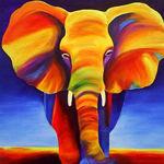Golden elephant - Livemaster - handmade