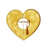 Шафрановое сердце - Ярмарка Мастеров - ручная работа, handmade