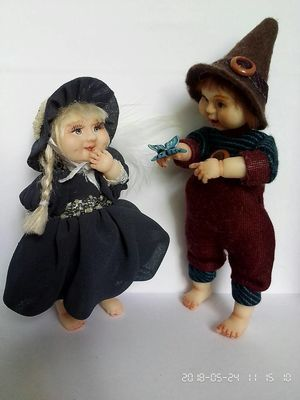 Куклы ручной работы (doll-pappet)